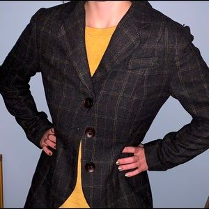 Cabi plaid 160 lined riding jacket blazer size 8